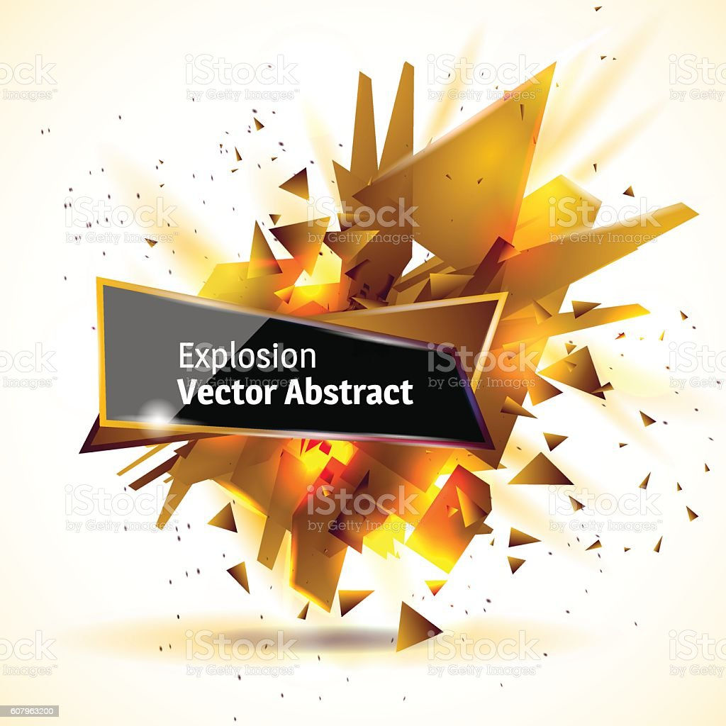 Vector illustration of an abstract explosion. vector art illustration