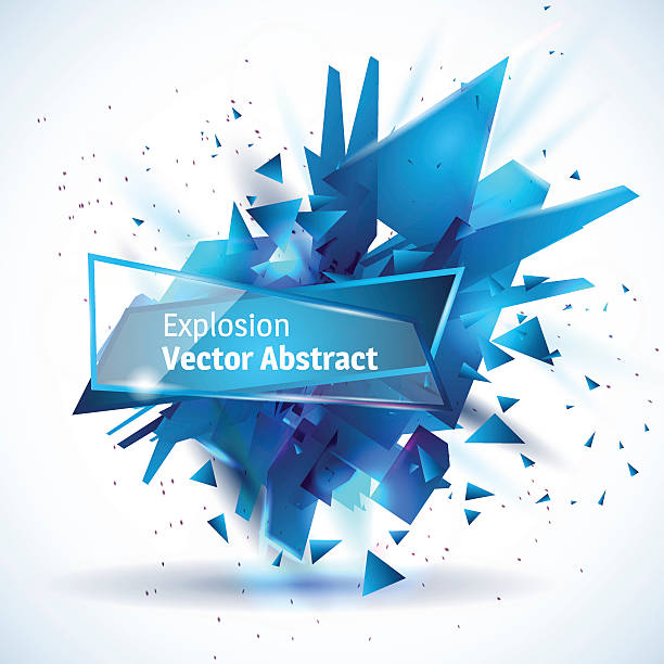 stockillustraties, clipart, cartoons en iconen met vector illustration of an abstract explosion. - triangel