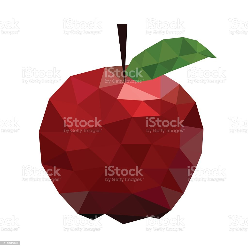 Vector illustration of an apple vector art illustration