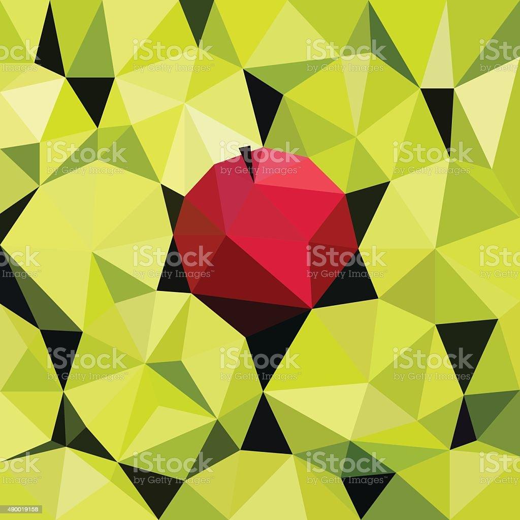 Vector illustration of an apples vector art illustration