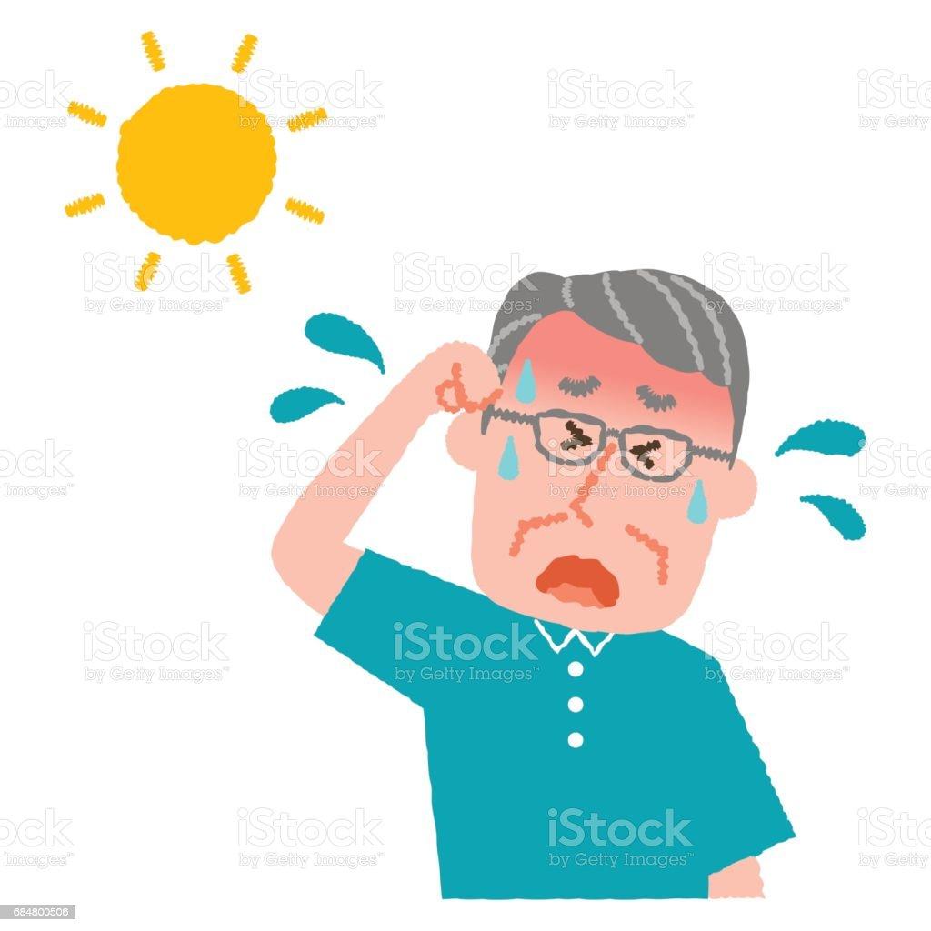 Illustration vectorielle dune homme a n avec un coup de chaleur cliparts vectoriels et plus d - Symptome d un coup de chaleur ...