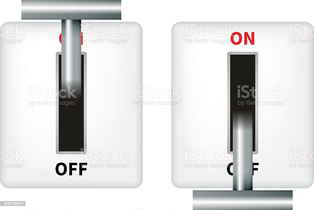 Vector illustration of an electric knife switch vector art illustration