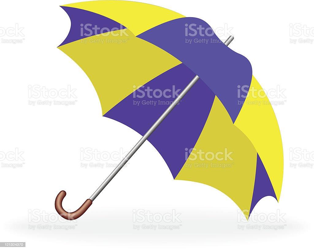 Vector illustration of an umbrella. royalty-free stock vector art