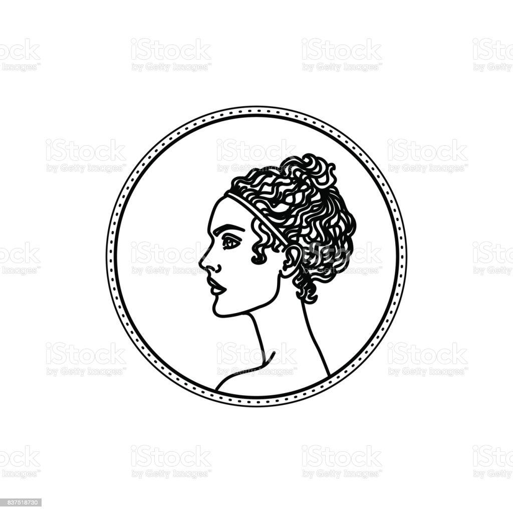 Illustration Vectorielle De Coiffure Grecque Antique Stock Vecteur