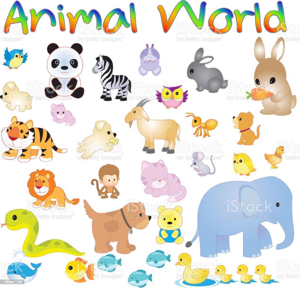 Vectorillustratie van dier wereld - Royalty-free Afrika vectorkunst