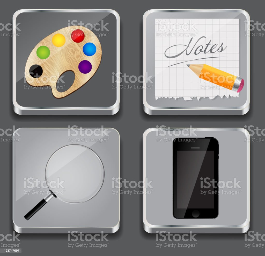 Vector illustration of apps icon set royalty-free stock vector art