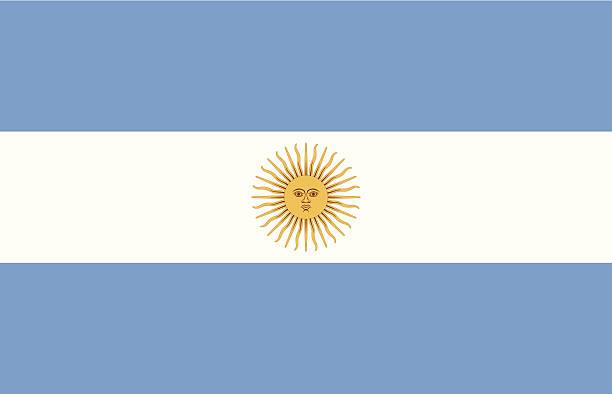 vector illustration of argentina flag - argentina flag stock illustrations, clip art, cartoons, & icons