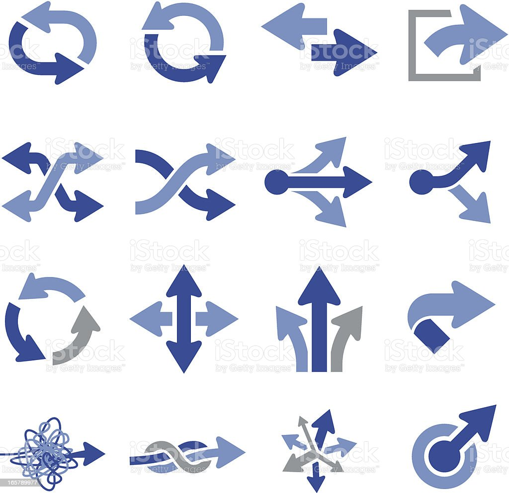 Vector illustration of arrow icons vector art illustration
