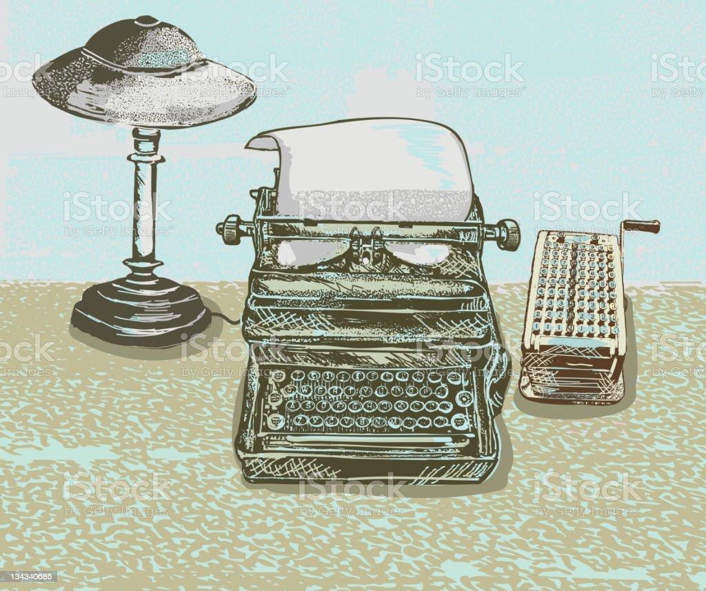 Vector illustration of assorted vintage desk items royalty-free vector illustration of assorted vintage desk items stock vector art & more images of 1940-1949