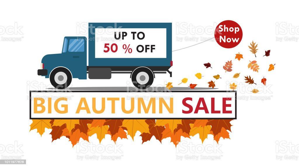 Vector illustration of autumn for sale banner background template...