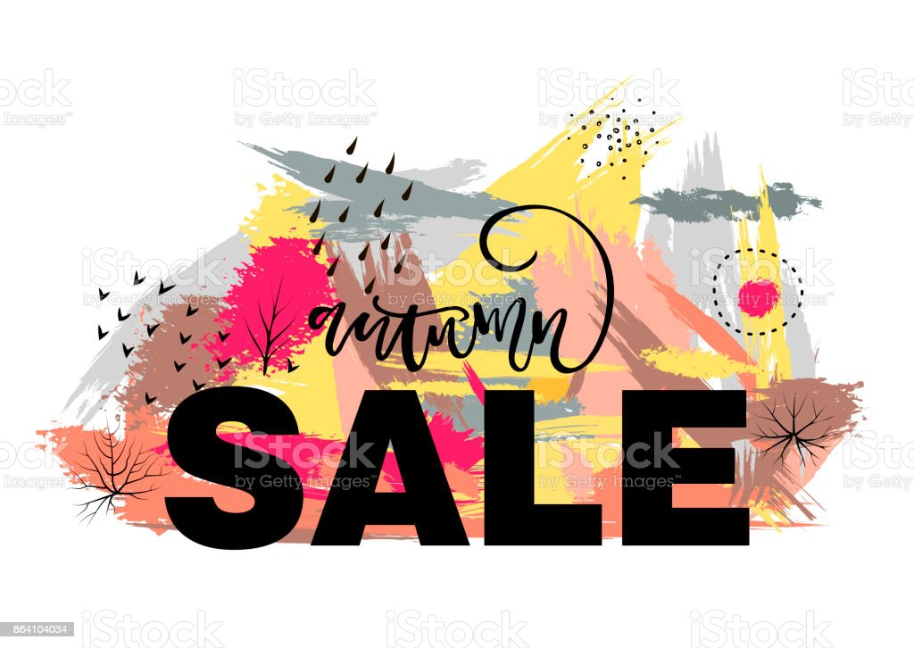 Vector illustration of autumn sale. royalty-free vector illustration of autumn sale stock vector art & more images of abstract
