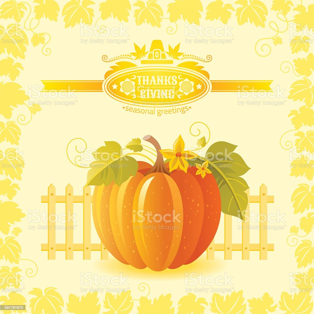 Vector Illustration Of Autumn Still Life Farm Thanksgiving Symbols