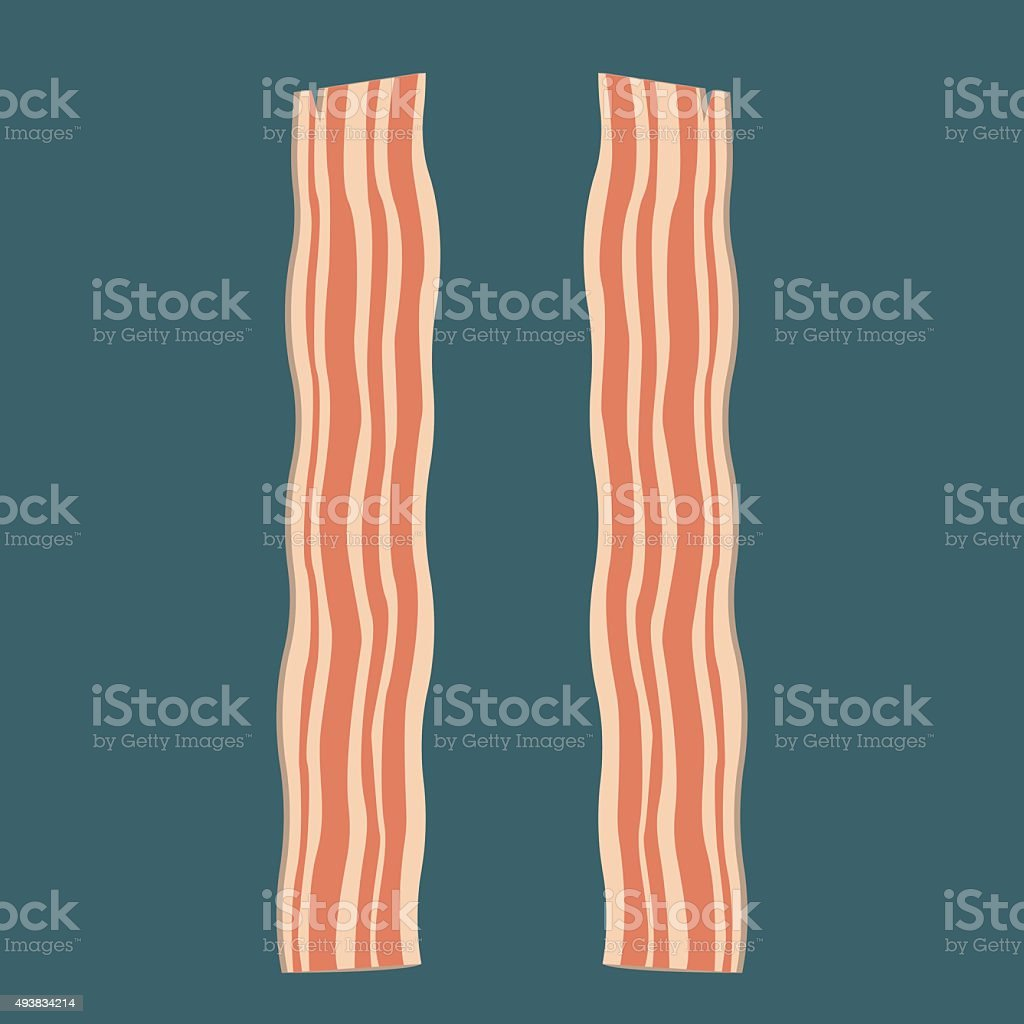 Vector illustration of bacon vector art illustration