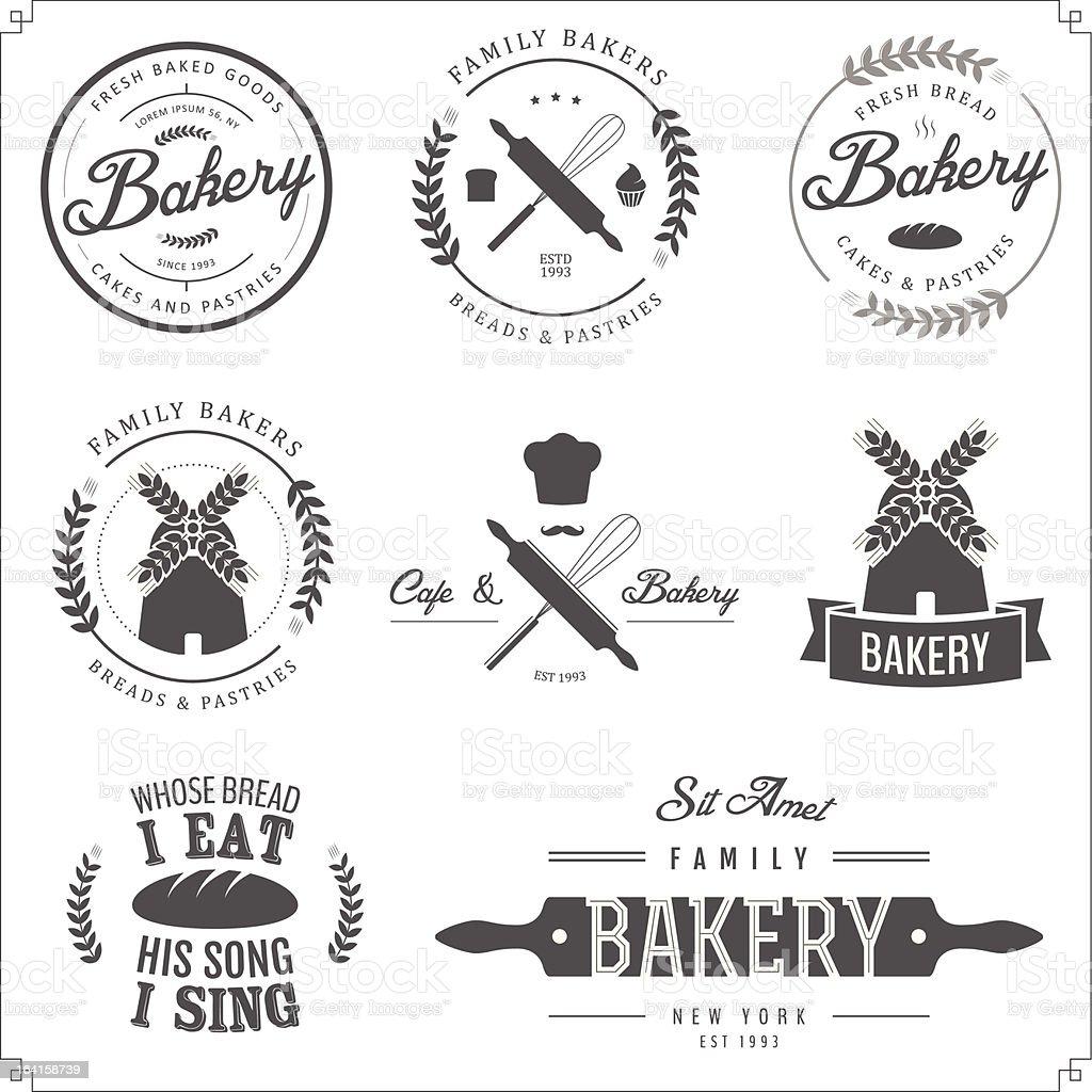 Vector illustration of bakery labels vector art illustration