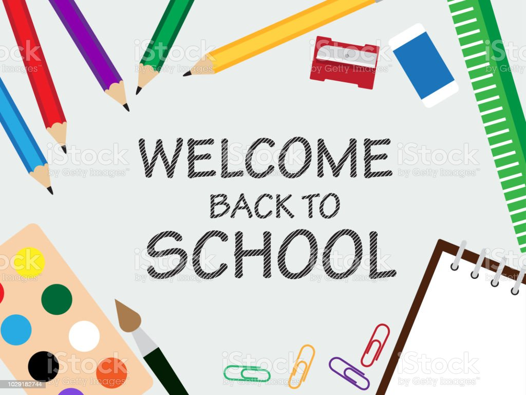 Vector Illustration Of Banner Template For Back To School With
