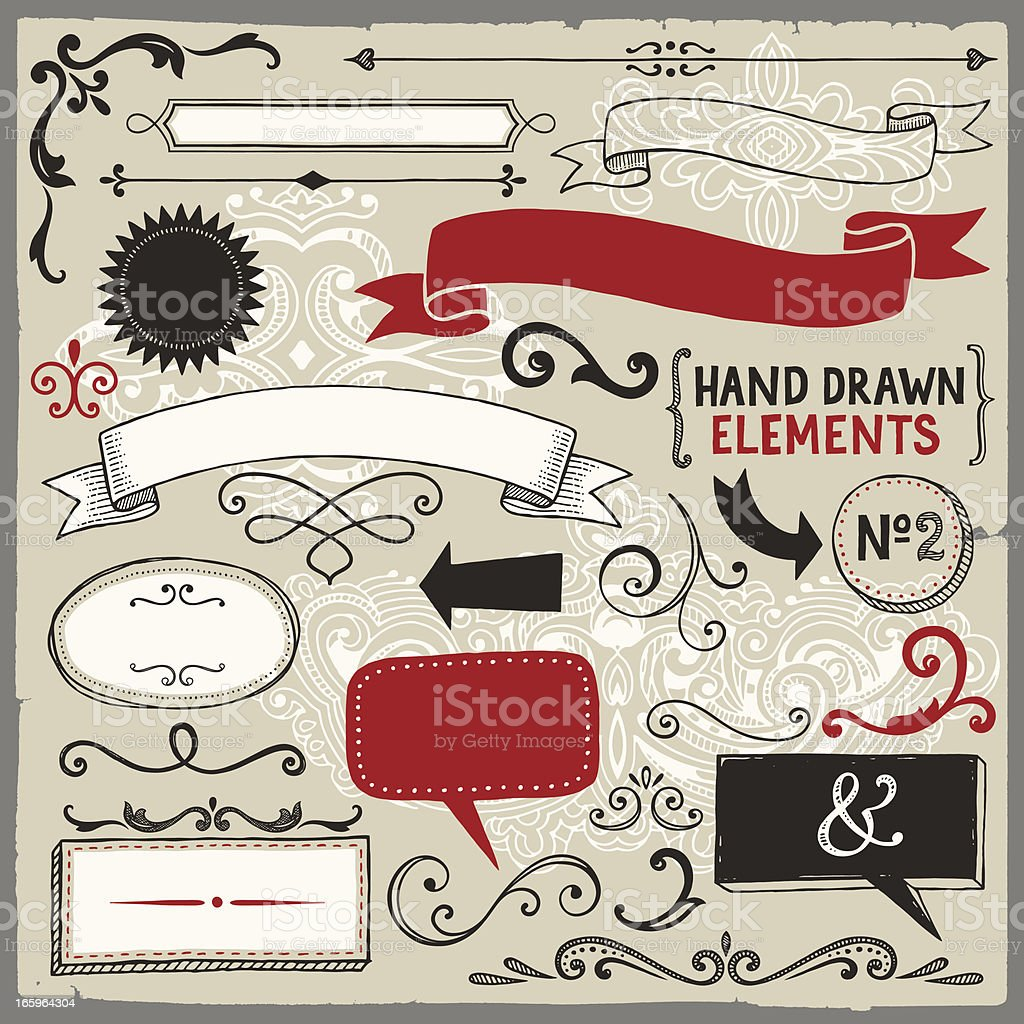 Vector illustration of banners, labels and frames royalty-free stock vector art