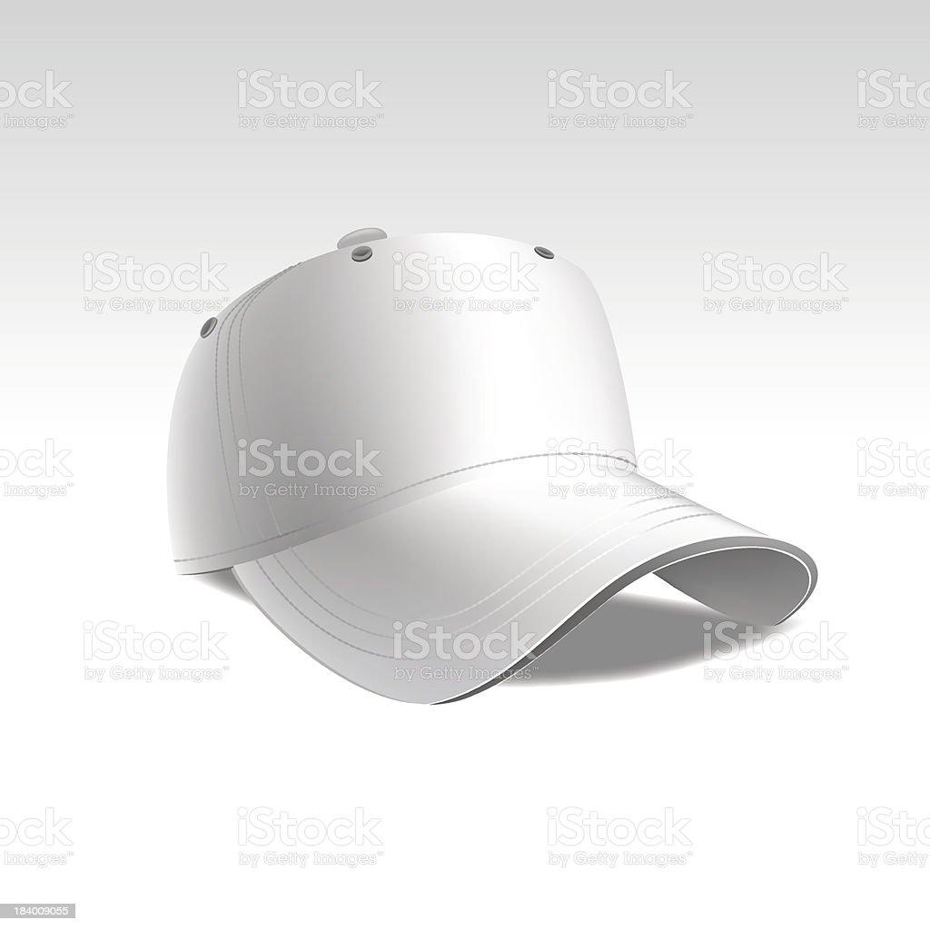 Vector Illustration of Baseball Cap Isolated on White Background royalty-free stock vector art