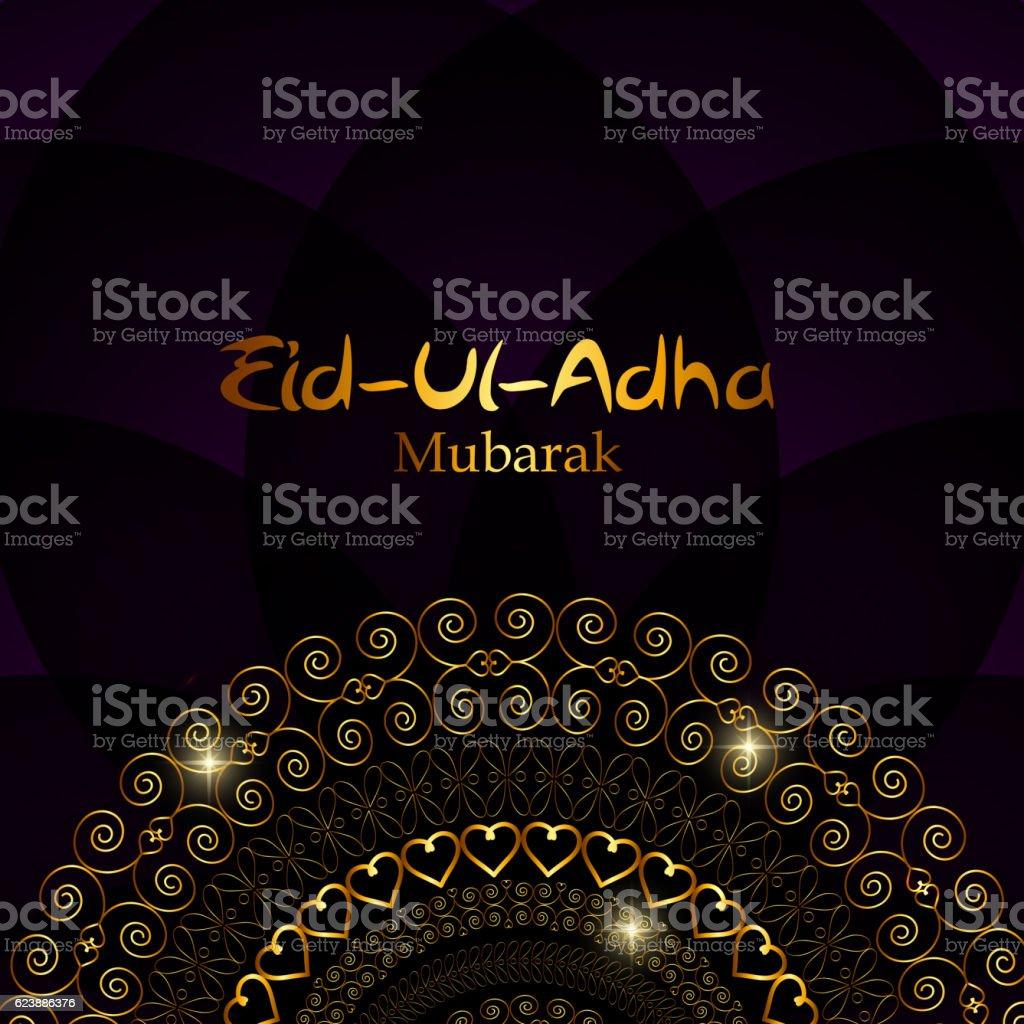 Vector Illustration of Beautiful Greeting Card Design  'Eid Adha vector art illustration