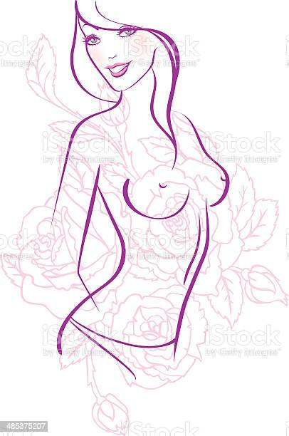 Vector illustration of beautiful woman vector id485375207?b=1&k=6&m=485375207&s=612x612&h=lghtxtbhrxiwknr04kbnmx0g1asvroc6dzsc4egakq4=