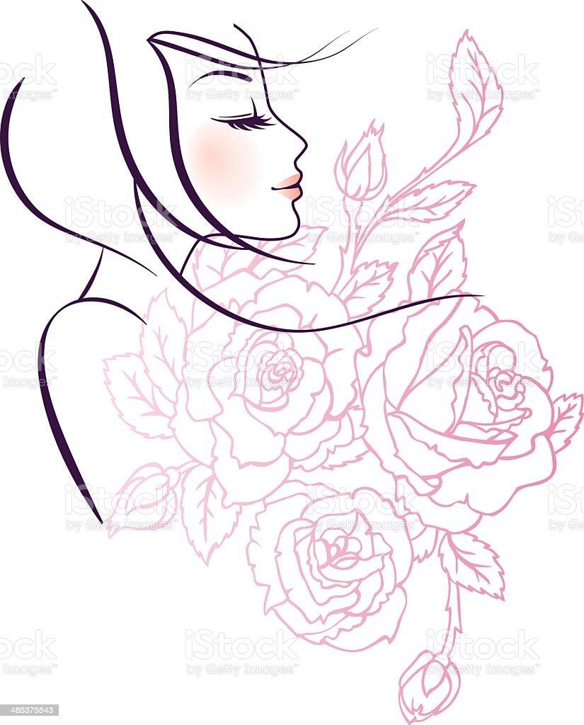 ベクトルイラストの美しい女性 アイコンのベクターアート素材や画像を