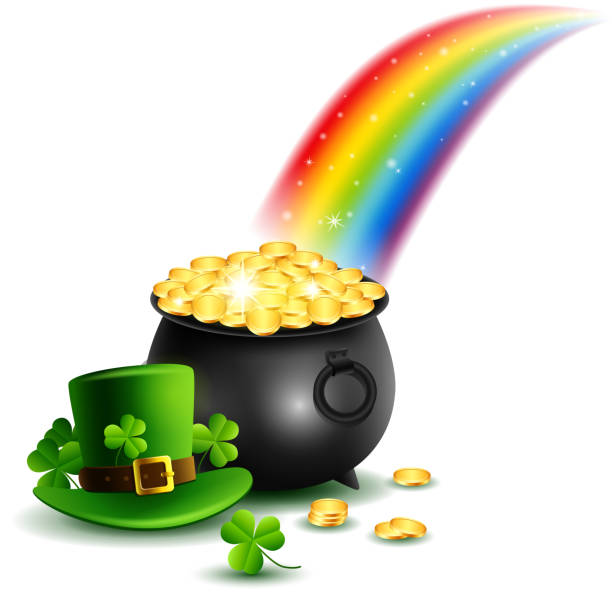 pot of gold clipart | Pot of Gold Coins - Free Clip Art ... |Pot Of Gold Clipart