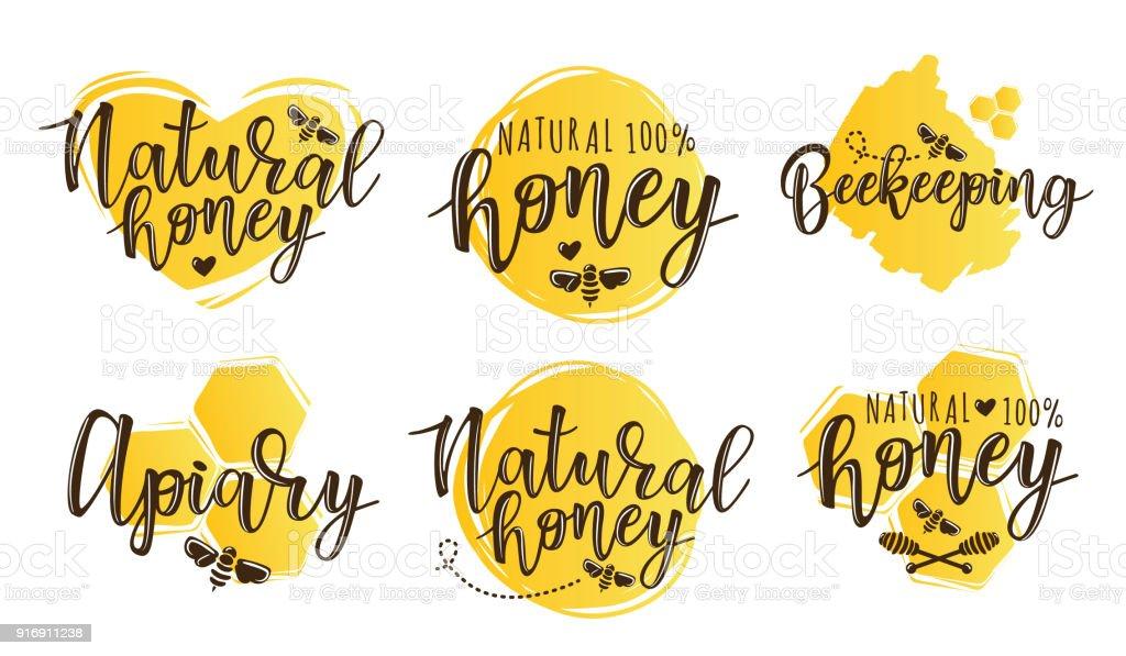 Illustration vectorielle de l'ensemble de l'apiculture - Illustration vectorielle
