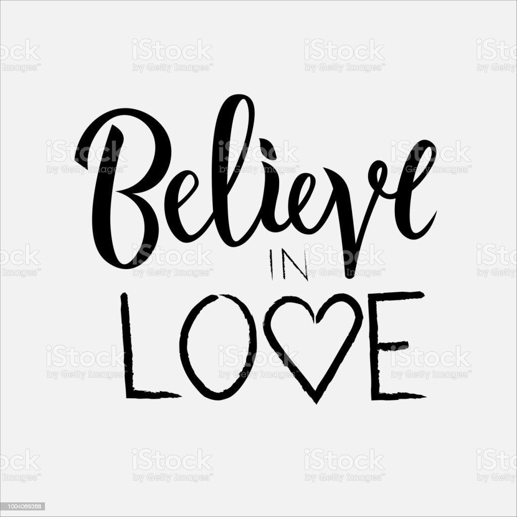 vector illustration of believe in love for clothes stock vector art