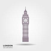 Vector Illustration of Big Ben Tower, London