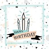 Vector illustration of Birthday greeting card