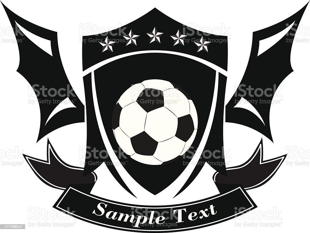 005176c5ee2 Ilustración vectorial de blanco y negro de fútbol escudo nº 1 ilustración  de ilustración vectorial de