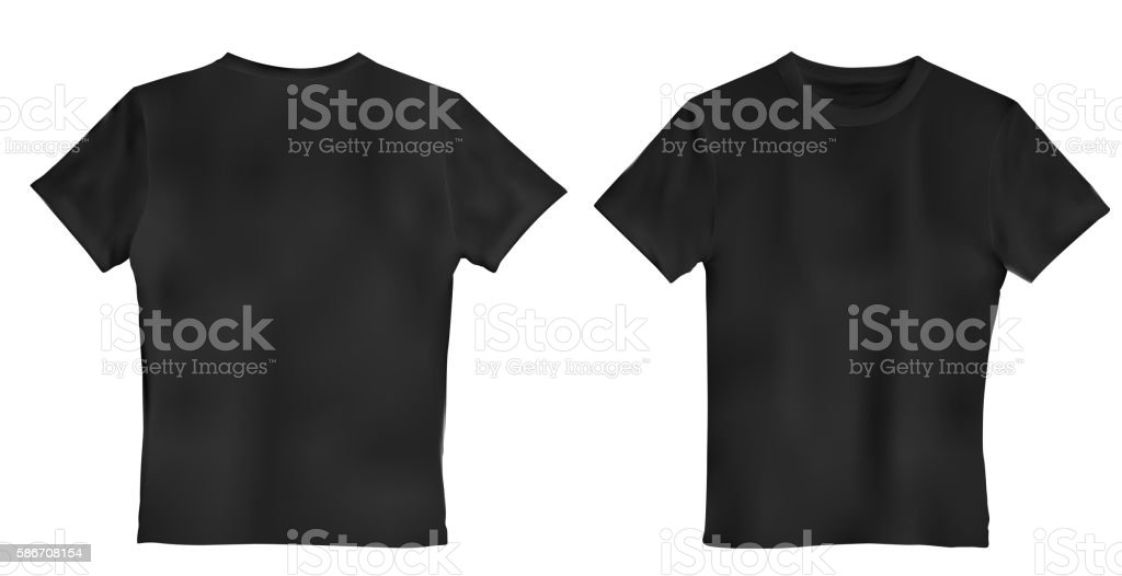 Vector illustration of black men T-shirt isolated on a vector art illustration