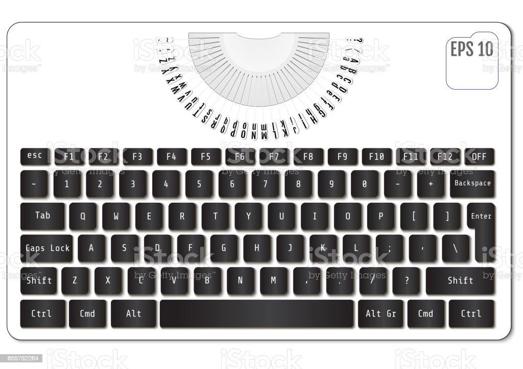Machine À Écrire Moderne Avec Clavier Dordinateur Portable