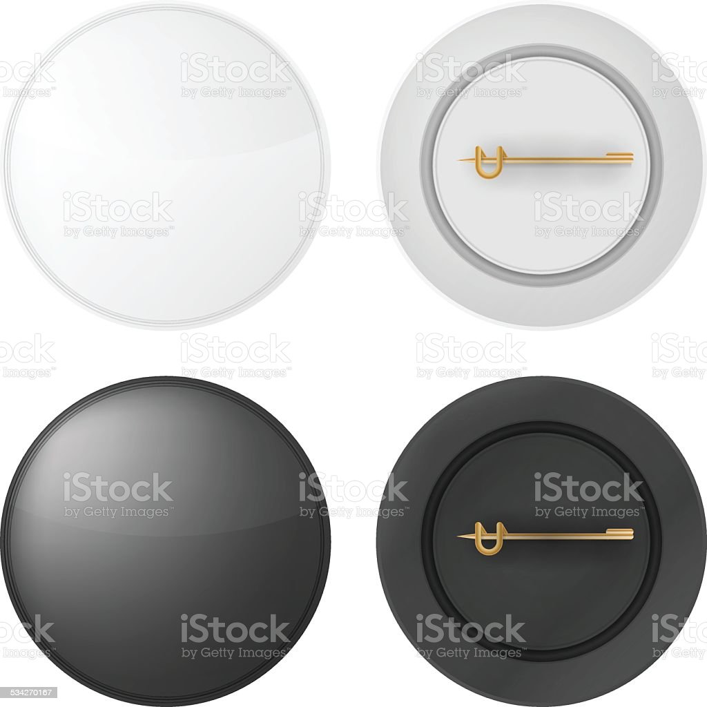 Vector illustration of blank badges vector art illustration