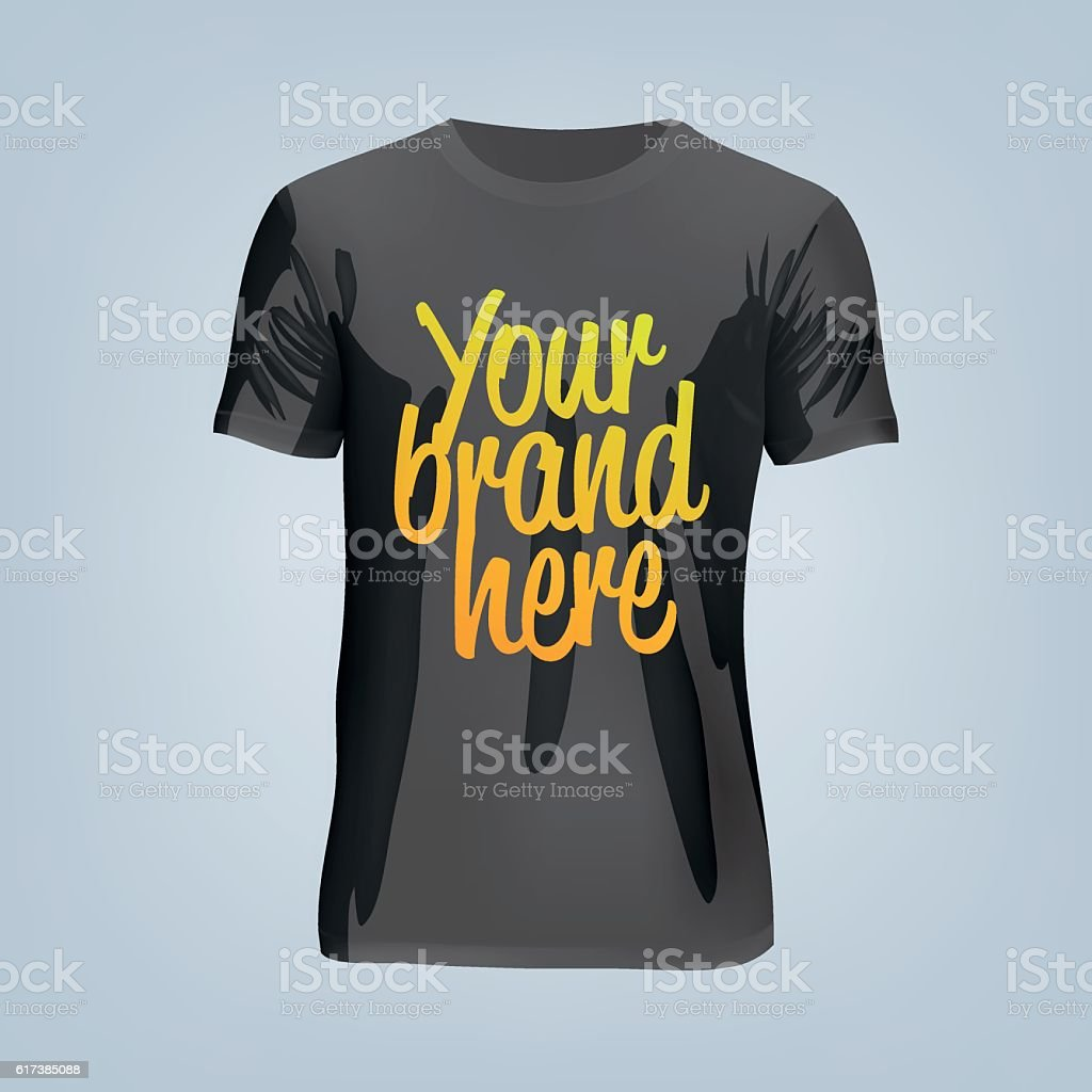 Vector Illustration Of Blank Tshirt Template Stock Vektor Art Und