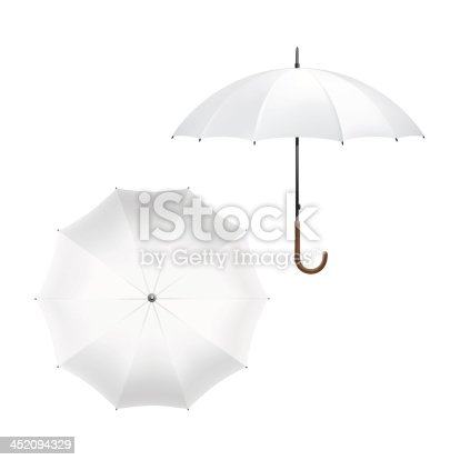 istock Vector Illustration of Blank White Umbrella 452094329