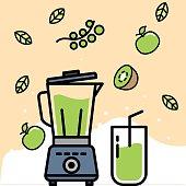 Blender, Green Color, Smoothie, Antioxidant, Juice - Drink,