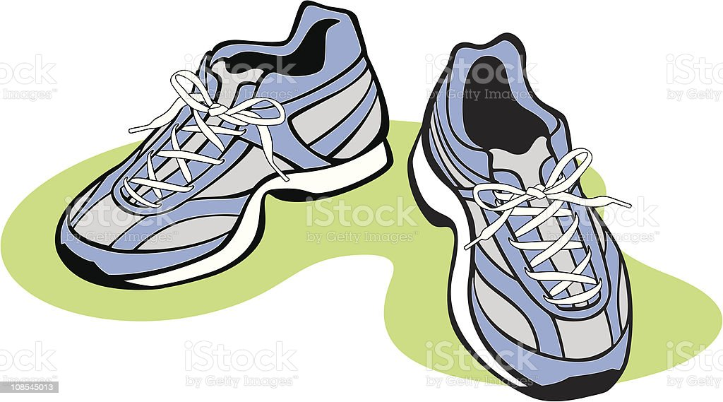 Vector illustration of blue athletic shoes royalty-free vector illustration of blue athletic shoes stock vector art & more images of color image