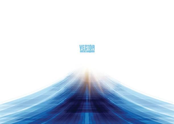 Vector illustration of blue road abstract background vector art illustration