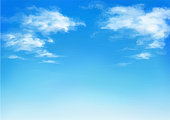 istock Vector illustration of blue sky in daytime. 1271098421