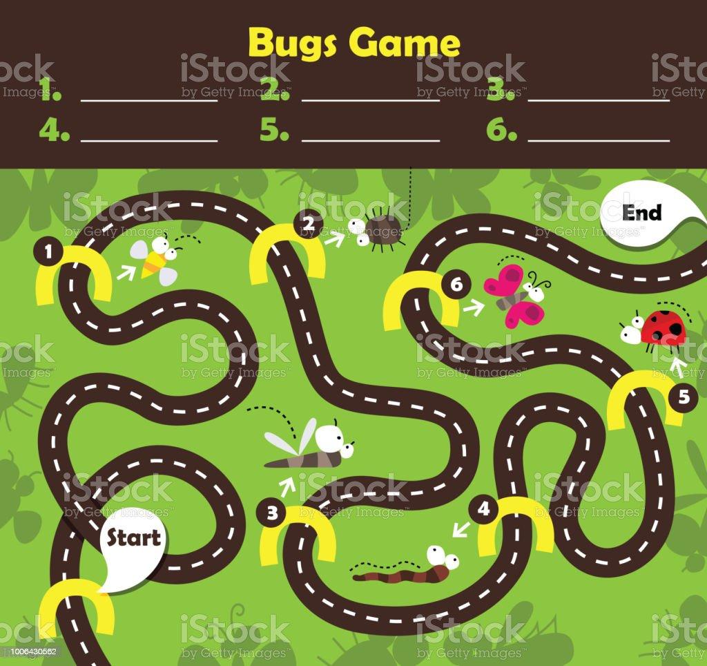 Vektor-Illustration des Brettspiels für Kinder – Vektorgrafik