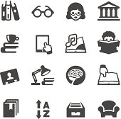 Mobico icons collection - Book reading and Library.