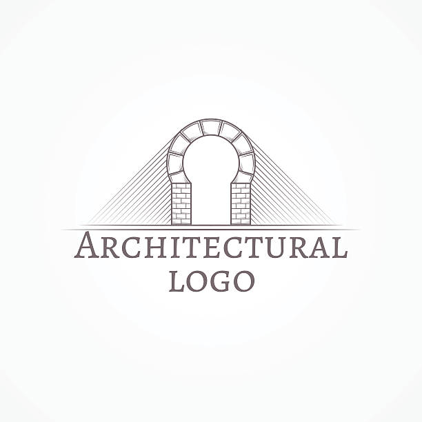 illustration vectorielle de brique partie arch icône texte - Illustration vectorielle