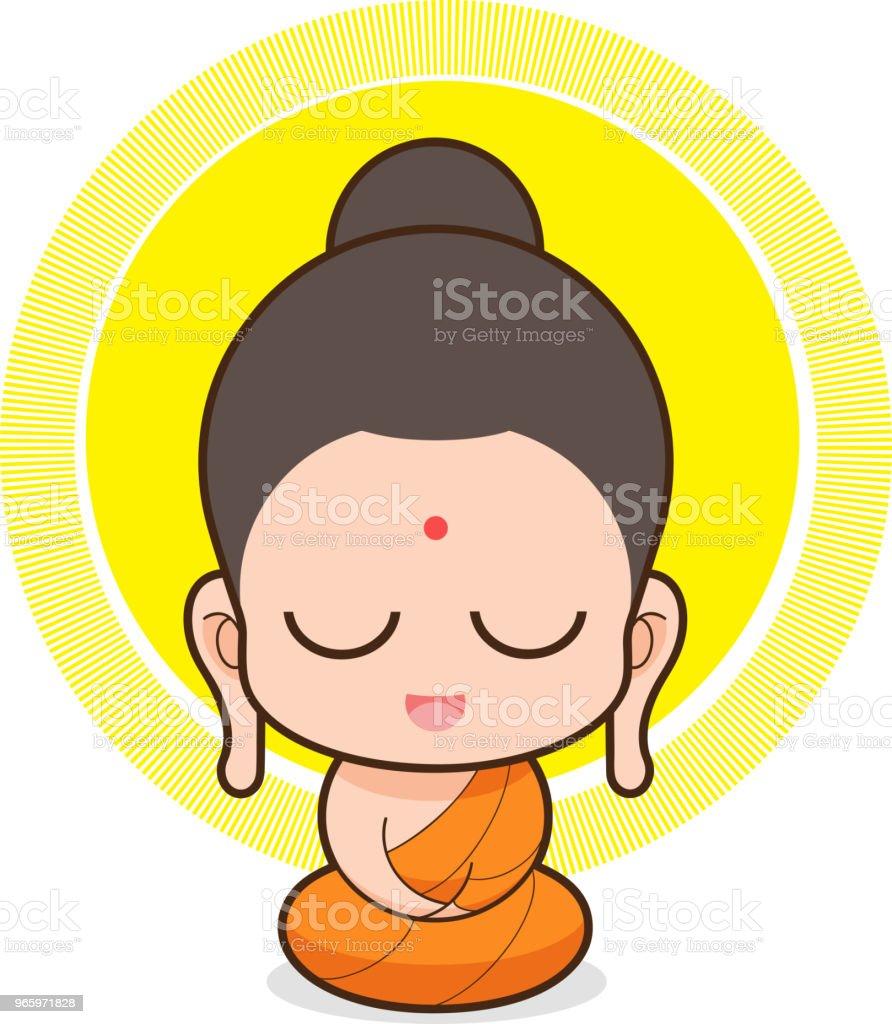 Vectorillustratie van Boeddha - Royalty-free Azië vectorkunst