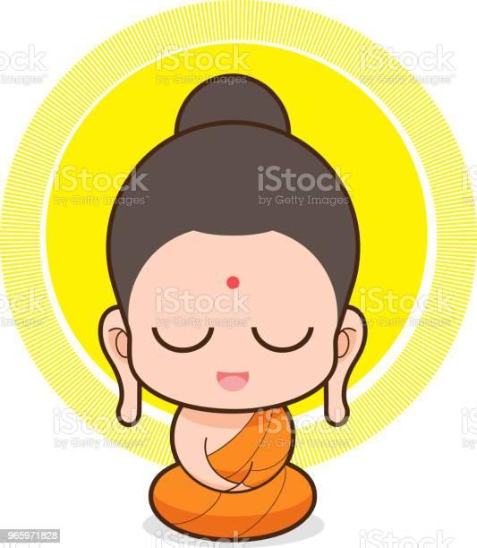 Vectorillustratie Van Boeddha Stockvectorkunst en meer beelden van Azië