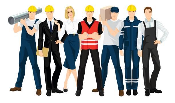 Vektor-Illustration für den Bau team – Vektorgrafik