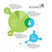 Vector illustration of Business infographic