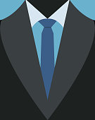 Vector illustration of business Men's casual suit