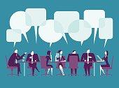 Vector illustration of meeting