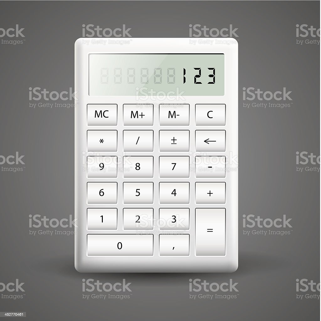 Vector illustration of calculator royalty-free vector illustration of calculator stock vector art & more images of balance