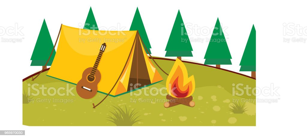 Vector illustration of  Camping Vector illustration of  Camping Adventure stock vector